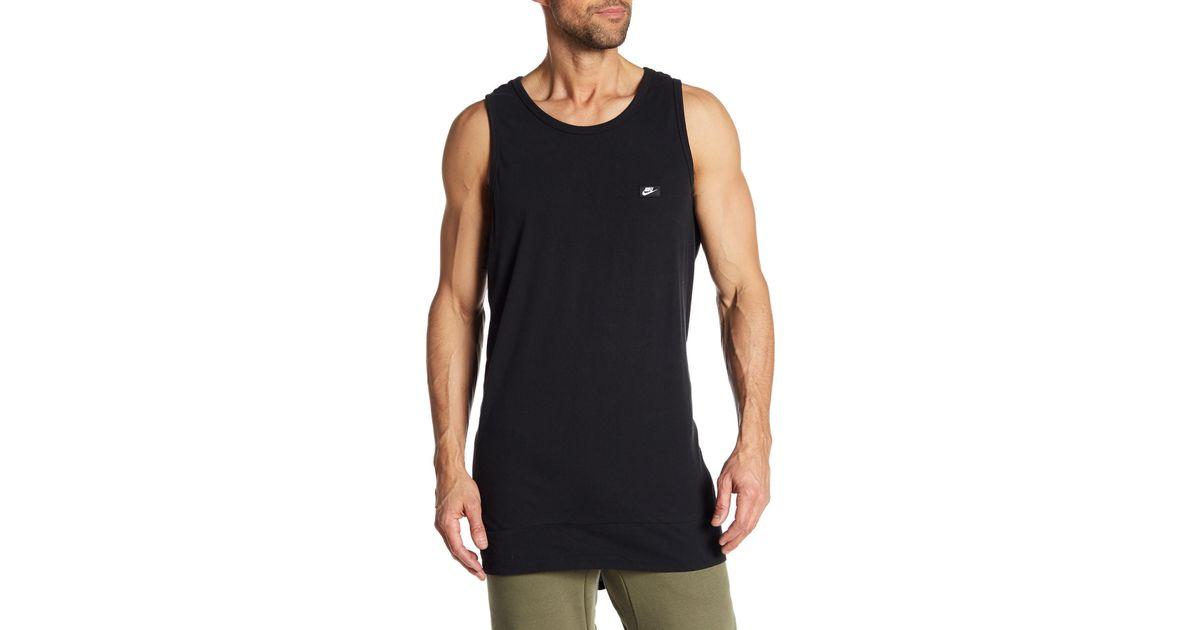 895bdfd936f Lyst - Nike Hi-lo Tank in Black for Men
