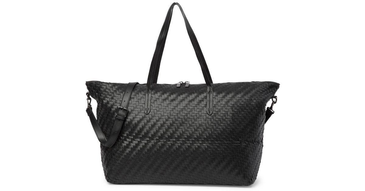 96d8dfff44 Deux Lux Dey Woven Weekend Bag in Black - Lyst