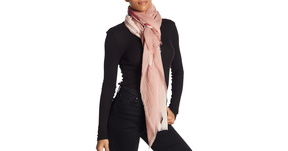 03afd582f Vince Camuto Anemone Print Wrap Scarf - Lyst