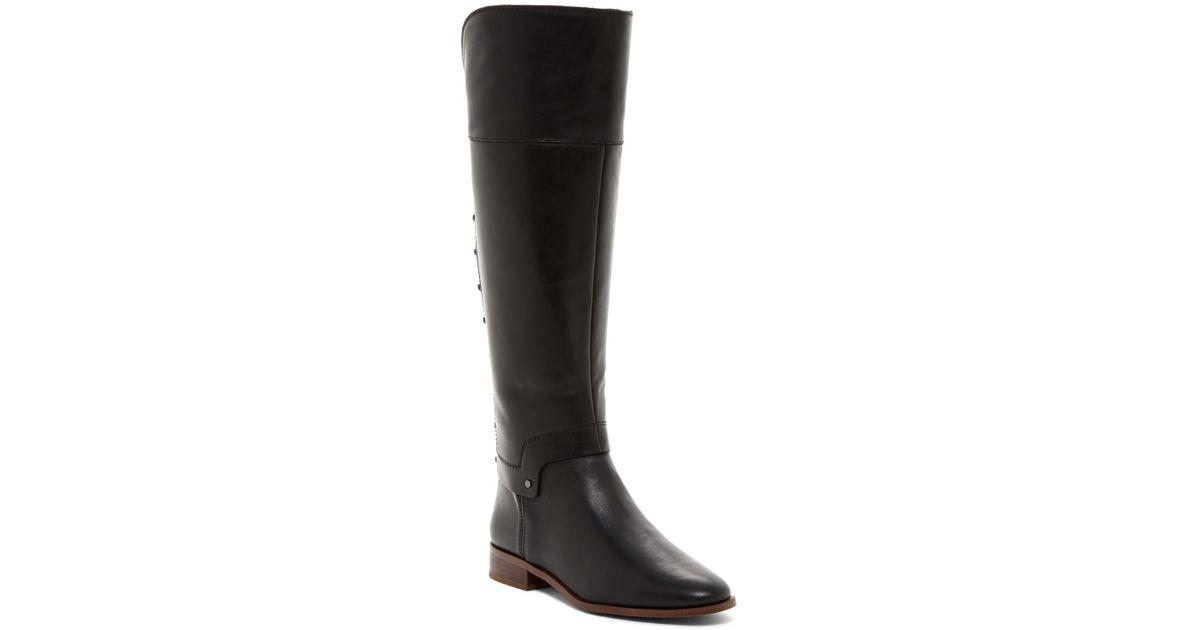 864f8e7b5bd Franco Sarto Black Roxanna Studded Riding Boot - Wide Width Available