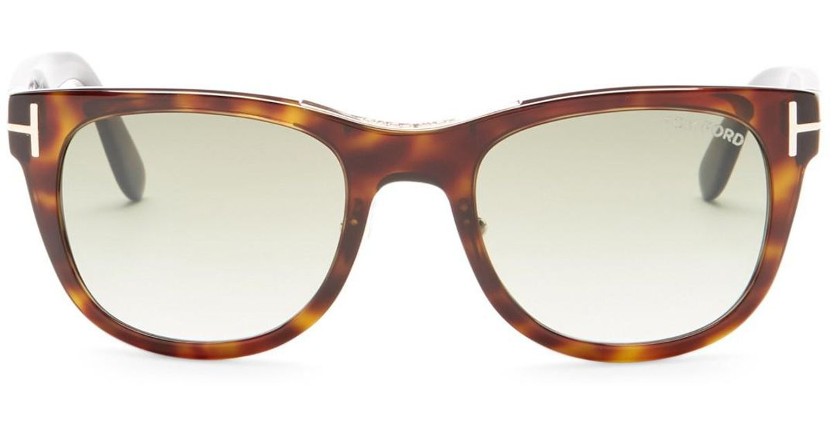 d418f064f3a2 Lyst - Tom Ford Jack 51mm Round Sunglasses in Brown