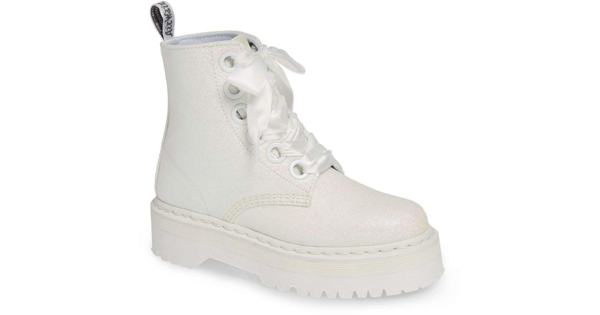 Dr. Martens Molly Glitter Boot in White