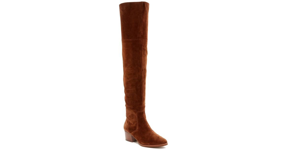 48dd3975205 Lyst - Via Spiga Ophira Over The Knee Boot in Brown