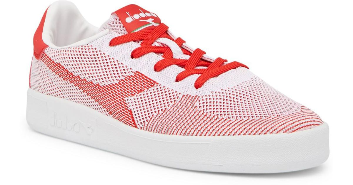 47a88f7611 Lyst - Diadora B. Elite Spw Weave Sneaker in Red for Men