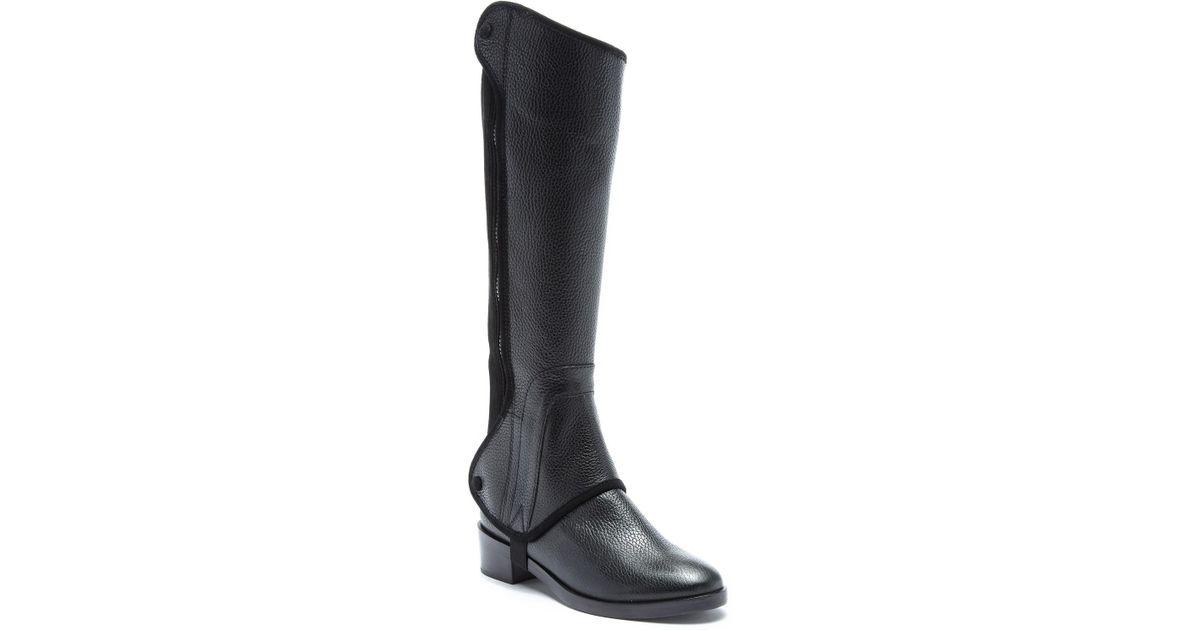 6eb7a723030 Tory Burch Black Milburn Leather Riding Boot