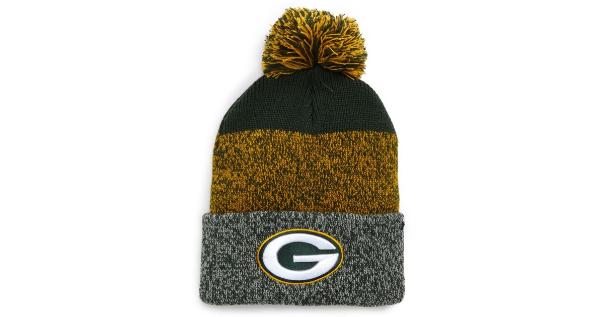 Lyst - 47 Brand Green Bay Packers Static Cuff Knit Beanie in Green for Men 050fb7611