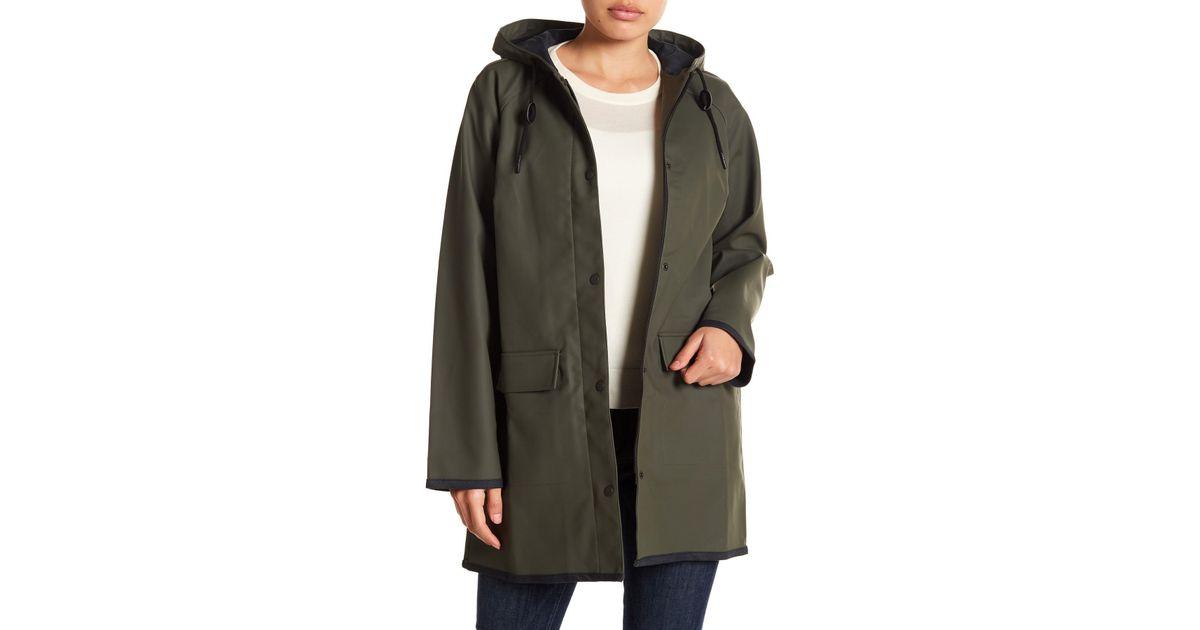 52ed5cb12ce Levi s Waterproof Hooded Raincoat in Green - Lyst