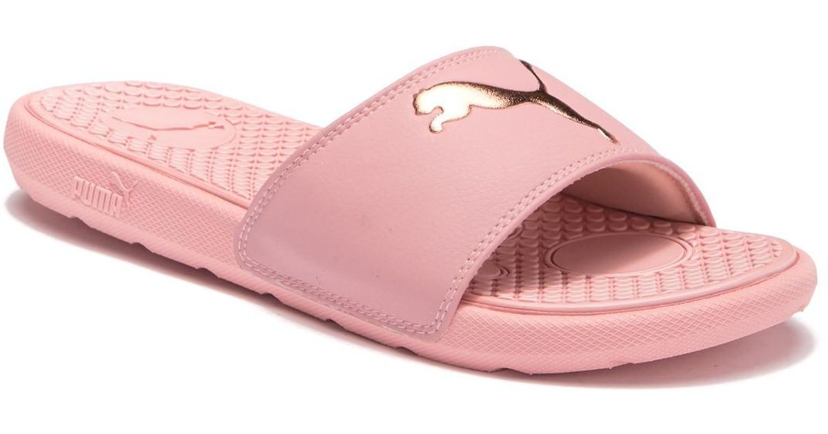 bbb650d57 Lyst - PUMA Cool Cat Slide Sandal in Pink