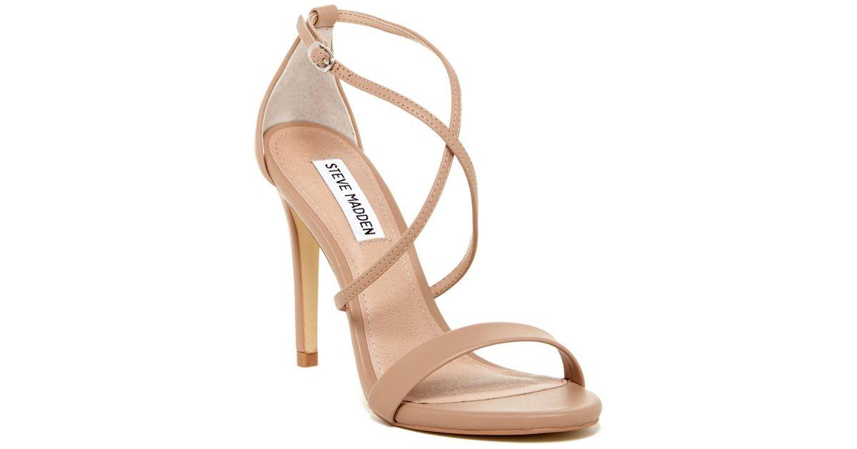 0ea9532d346 Lyst - Steve Madden Floriaa Heel Sandal in Natural