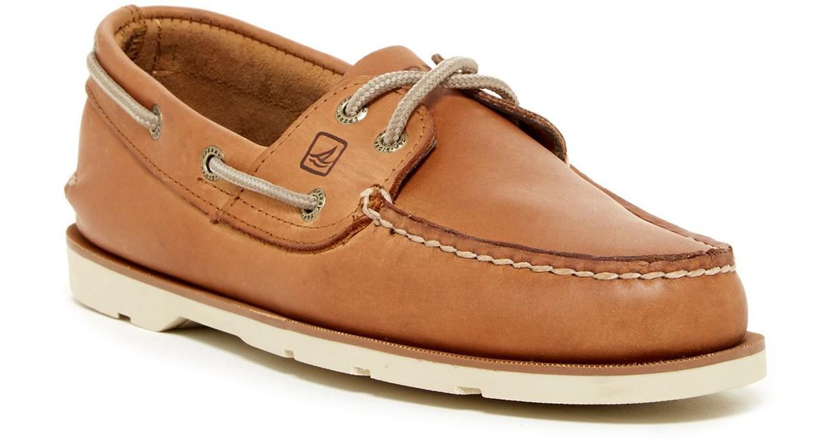 6a454e15216 Lyst - Sperry Top-Sider Leeward 2-eye Leather Boat Shoe - Wide Width  Available in Brown for Men
