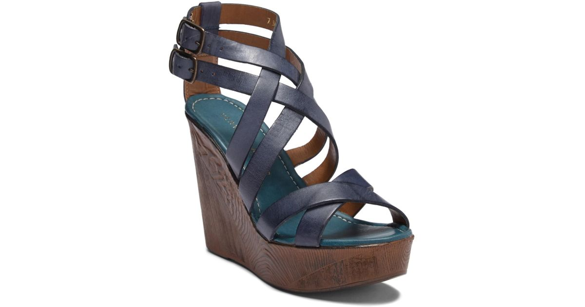 a2ff6fee0bf Lyst - Very Volatile Ultimate Platform Wedge Sandal in Blue