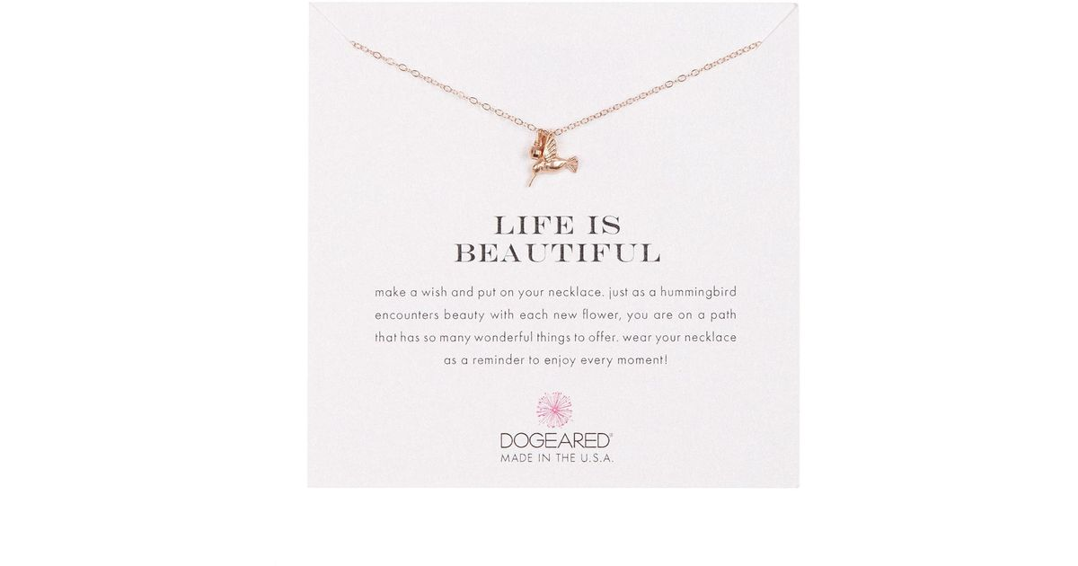 099e6970b Dogeared Life Is Beautiful Hummingbird Pendant Necklace - Lyst
