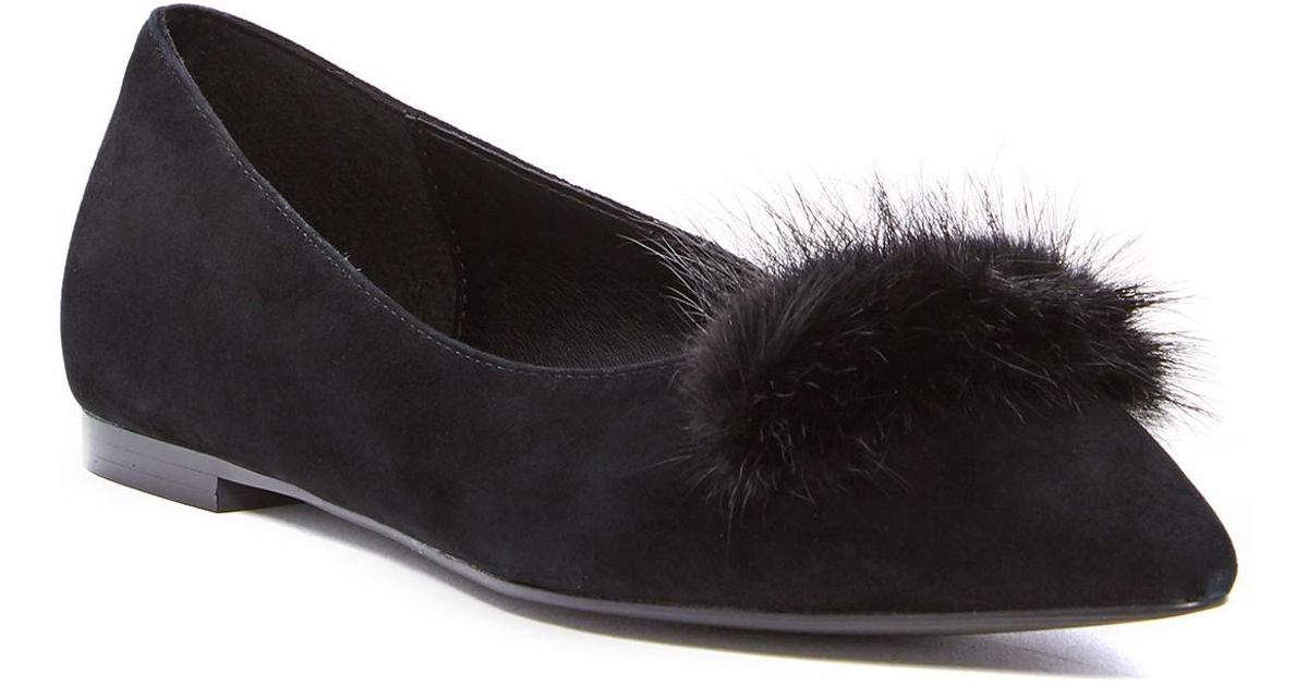 2c48b41e86d Lyst catherine malandrino pina pointed toe genuine rabbit fur flat in black  jpg 1200x630 Catherine malandrino