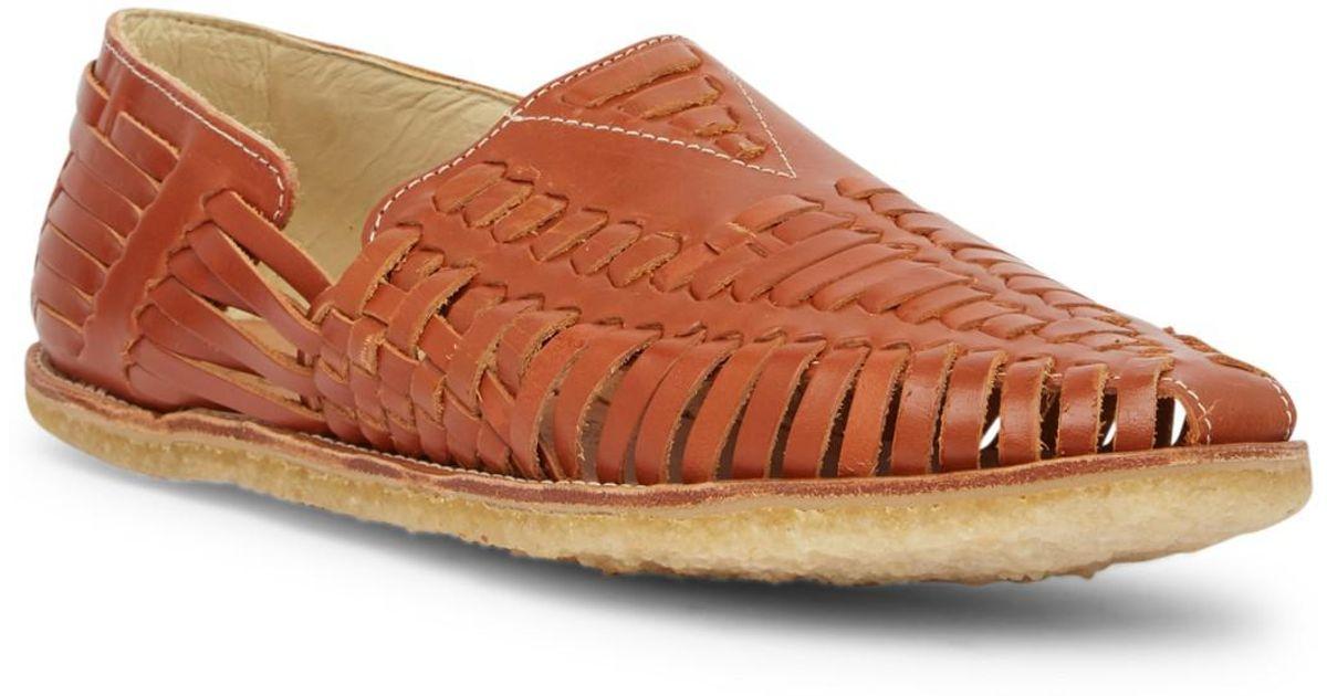 8b6f42c34d10 Lyst - TOMS Cognac Leather Huarache Sandal in Brown for Men