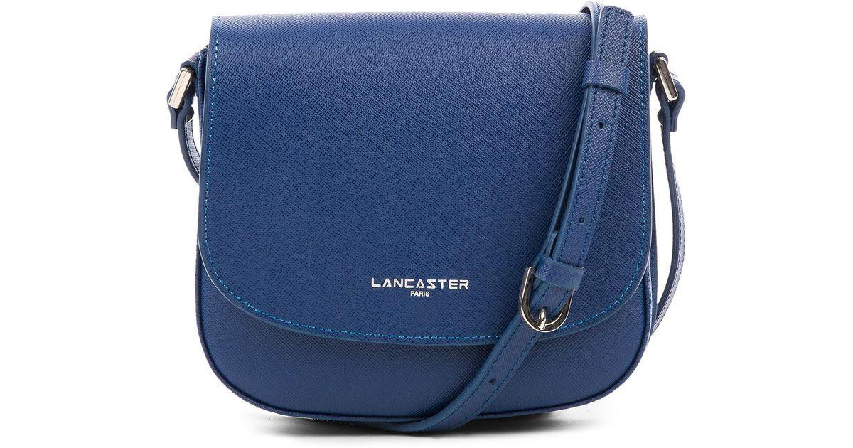 0293a329260a Lyst - Lancaster Paris Adele Saffiano Leather Saddle Bag in Blue