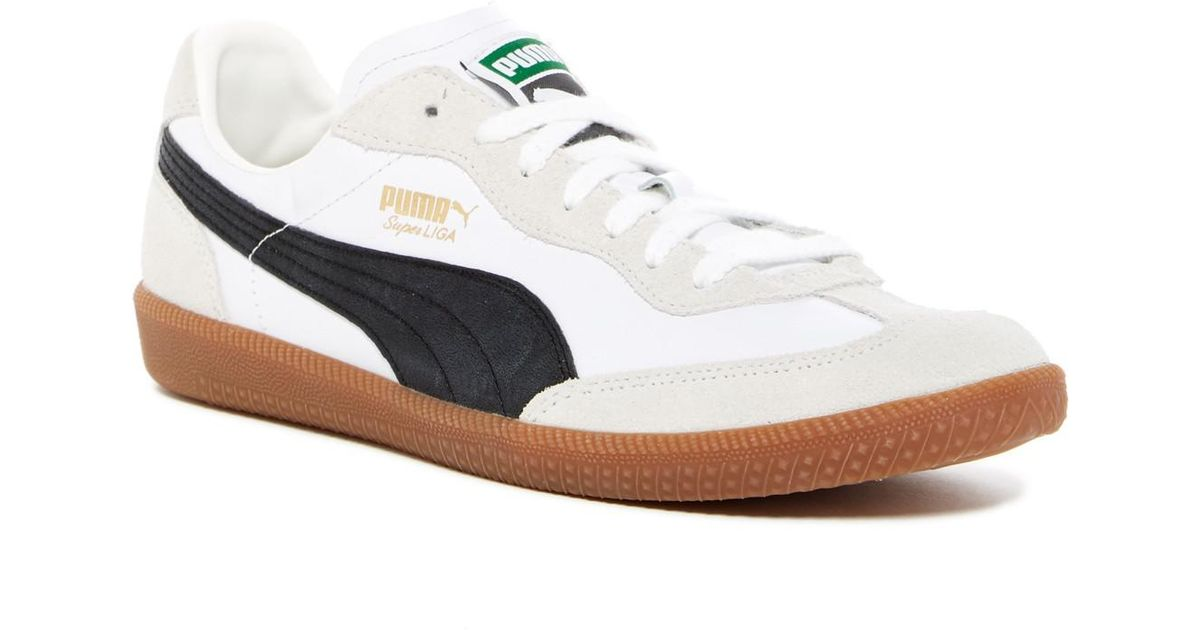 best authentic meticulous dyeing processes how to orders PUMA White Super Liga Og Retro Leather & Suede Sneaker for men
