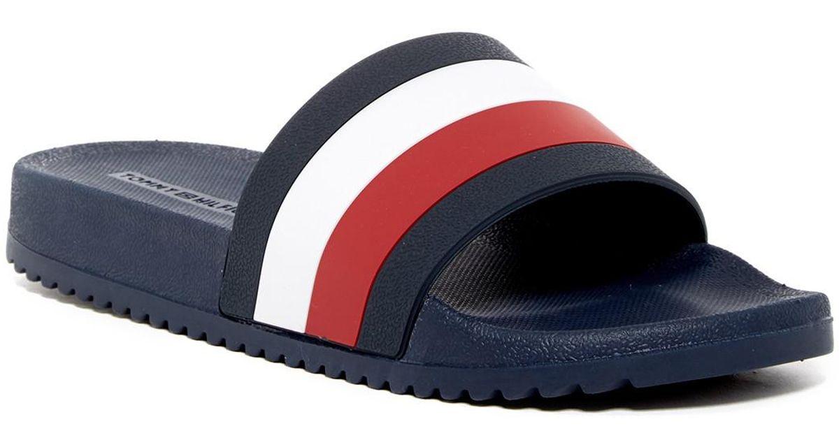 9a1045927c41ba Lyst - Tommy Hilfiger Reas Slide Sandal in Blue for Men