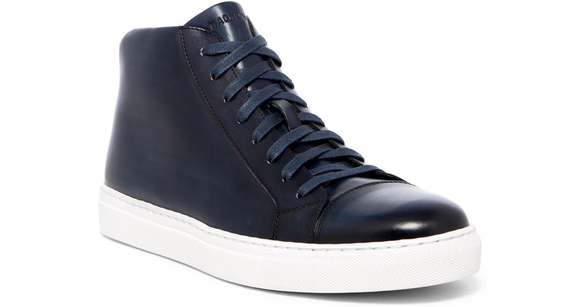 Magnanni Mack Leather High Top Sneaker
