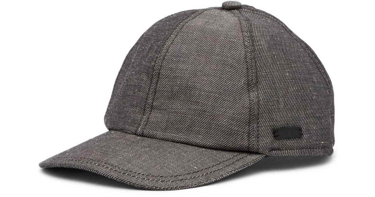 Lyst - John Varvatos Baseball Merino Wool Hat in Gray for Men 51d9d115808f