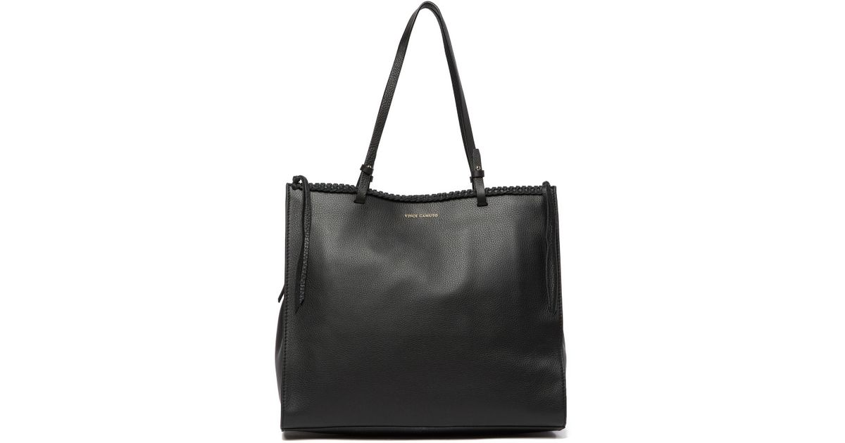 740902f3 Vince Camuto - Black Litzy Leather Tote Bag - Lyst