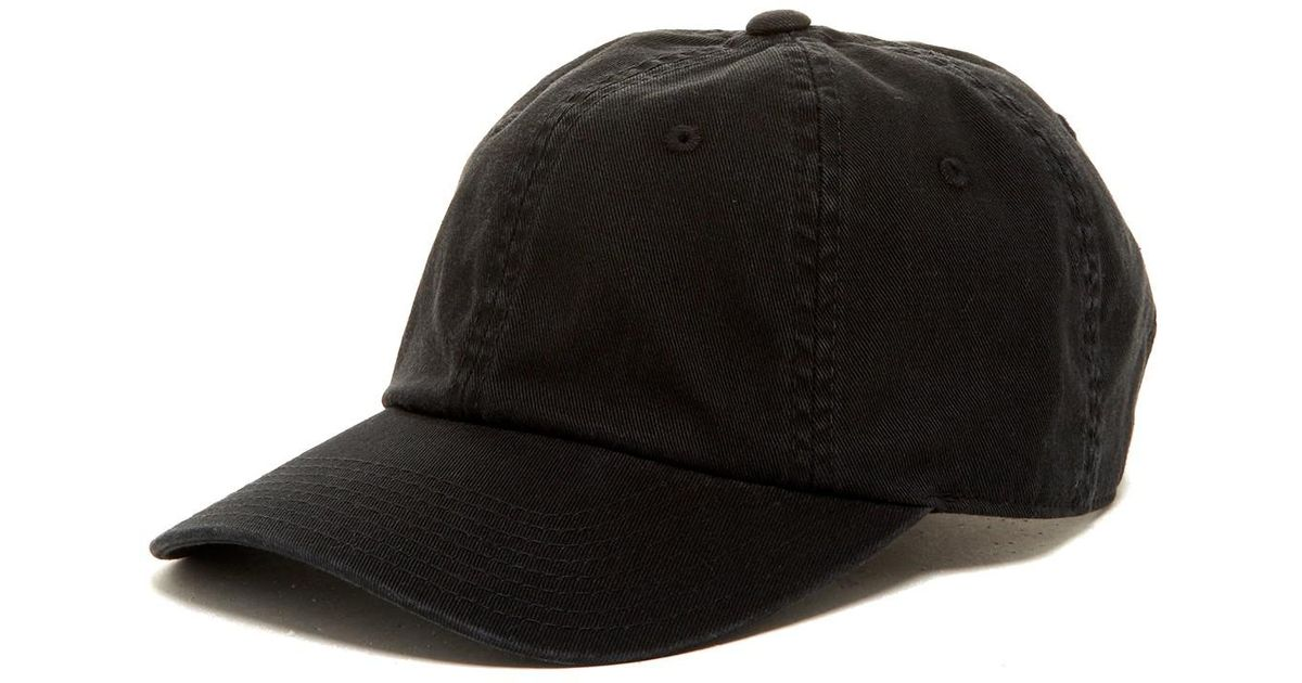 4912f7ea8520c8 American Needle Washed Slouch Baseball Cap in Black for Men - Lyst