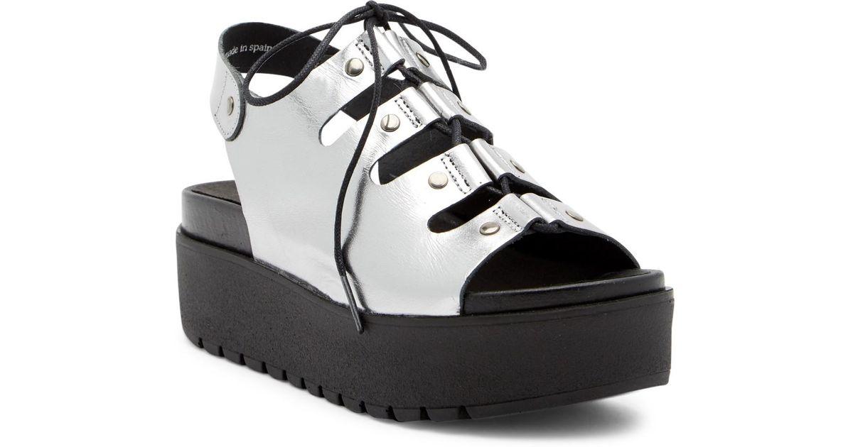 Shellys London Kacey Leather Platform Sandal 12PPZXosFd