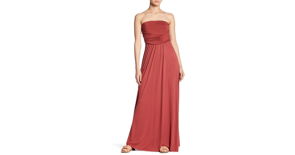 af433321450 Lyst - West Kei Strapless Maxi Dress in Red