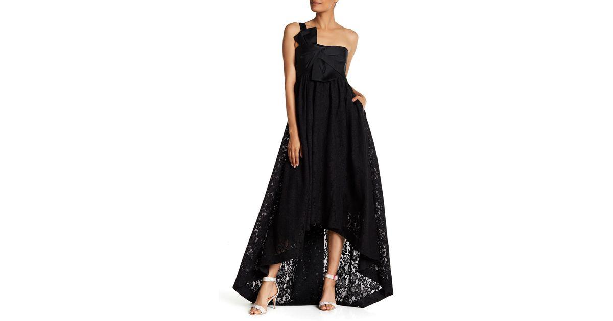 Lyst - Zac Zac Posen Roberta Lace Hi-lo Gown in Black