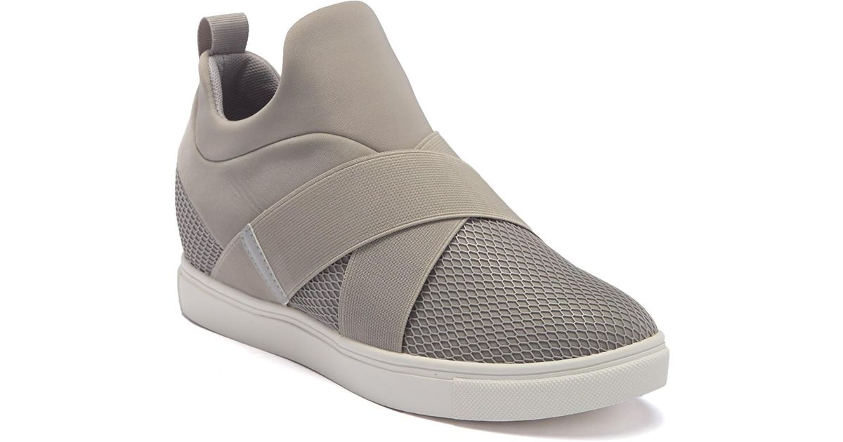 04ee69e1dcb Steve Madden Gray Laynie Wedge Sneaker
