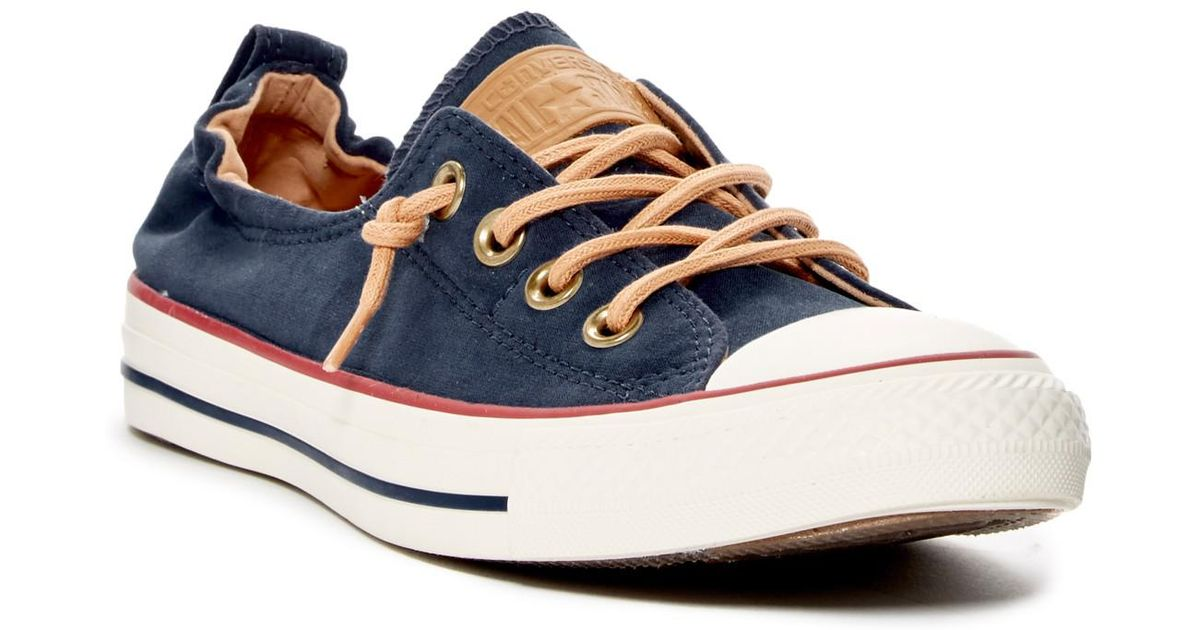 6f32553607a2 Lyst - Converse Chuck Taylor(r) All Star(r)  peached - Shoreline  Low Top  Slip-on Sneaker (women) in Blue