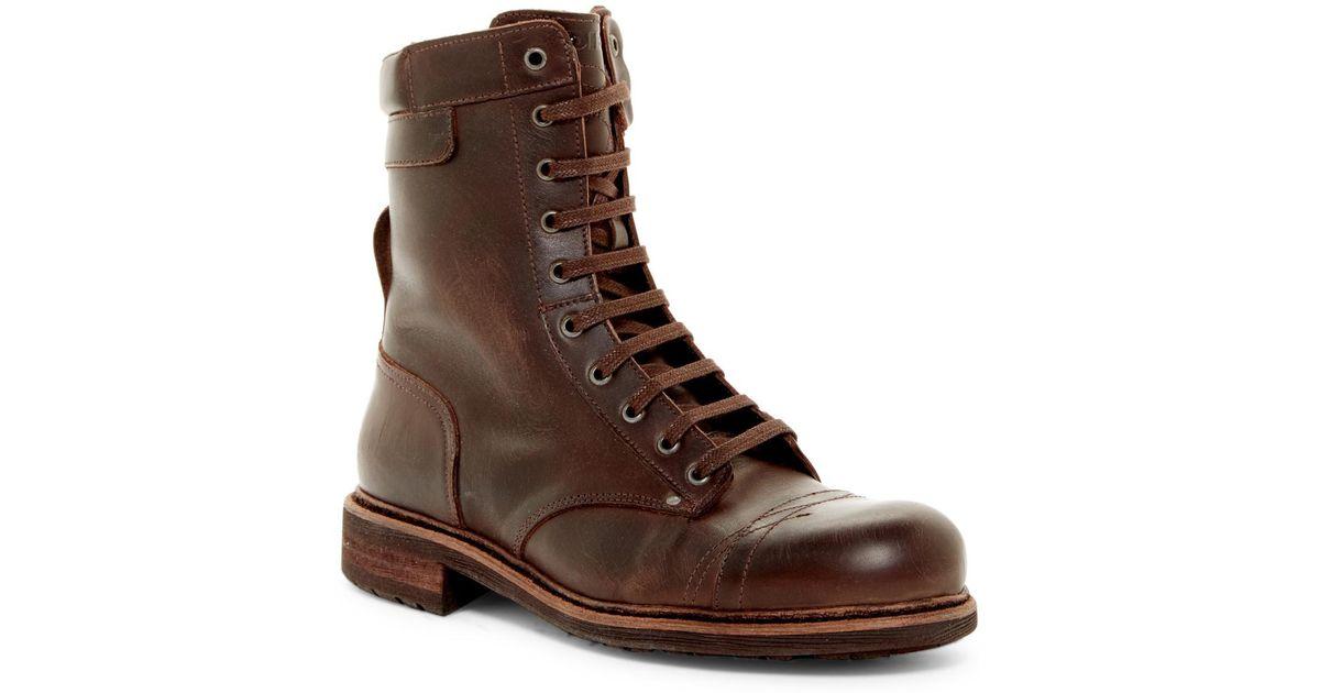 f9f4b2de827 DIESEL Brown Butch & Cassidy Combat Boot for men
