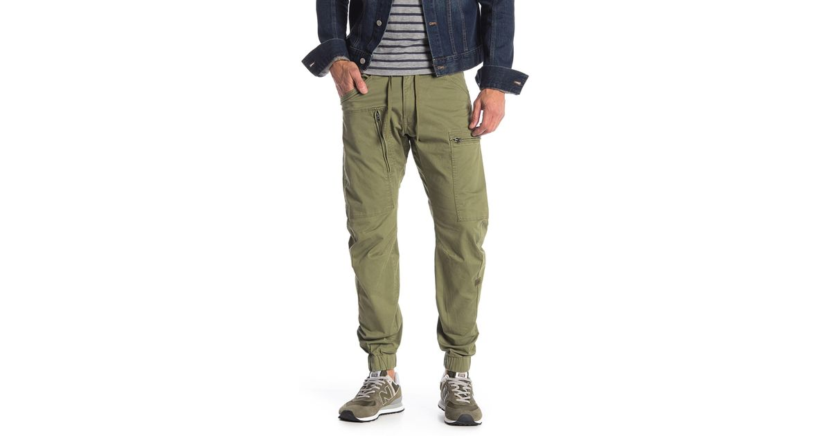 7960932169f G-Star RAW Powel Qane 3d Straight Tapered Cuffed Jeans in Green for Men -  Lyst