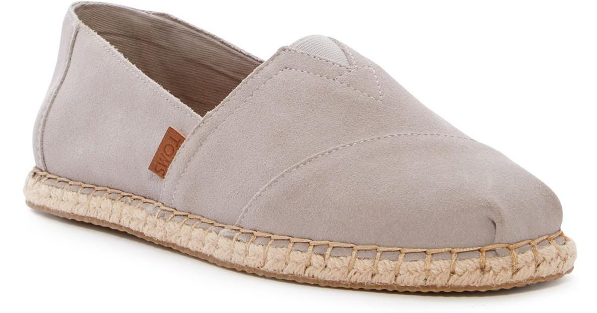 60823668fe8 Lyst - Toms Classic Alpargata Slip-on Shoe in Gray