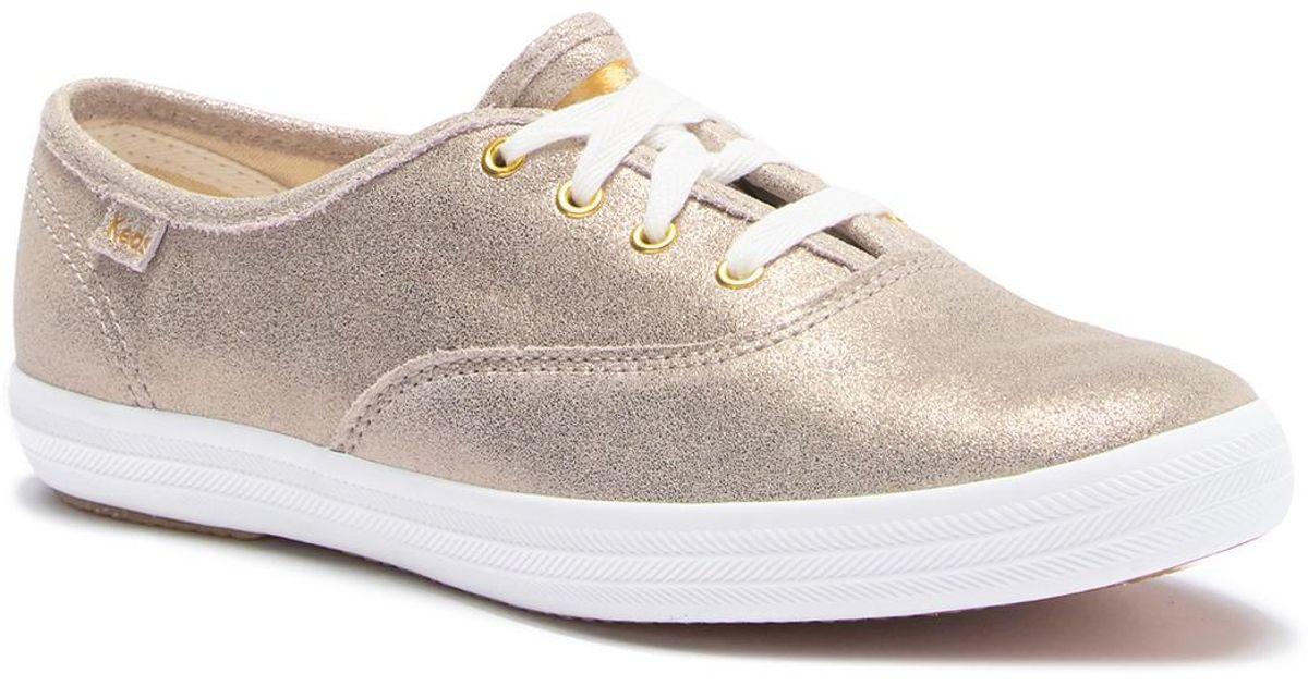 3fb205c2c9c2 Lyst - Keds Champion Glitter Suede Sneaker