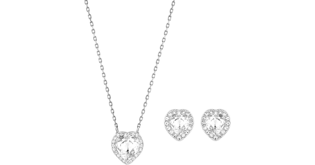Swarovski Crystal Heart Necklace And Earrings Hd