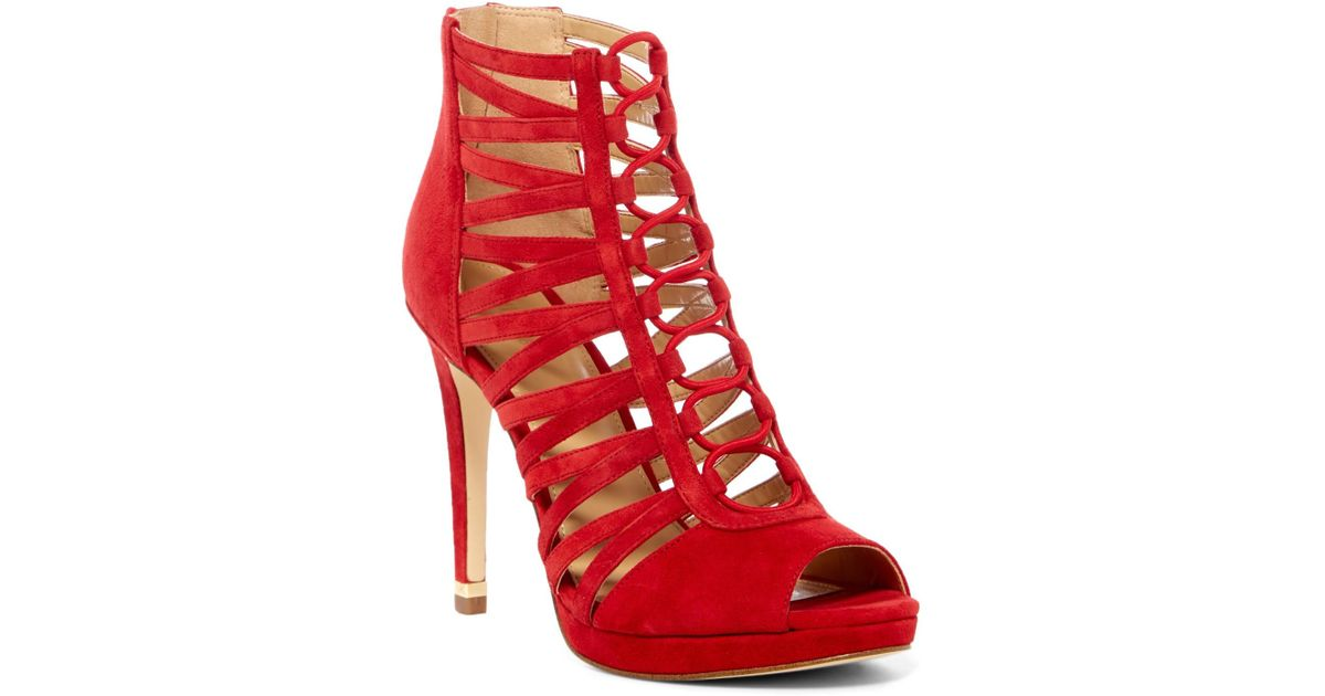 dbd5b806595 Lyst - MICHAEL Michael Kors Clarissa Platform Sandal in Red