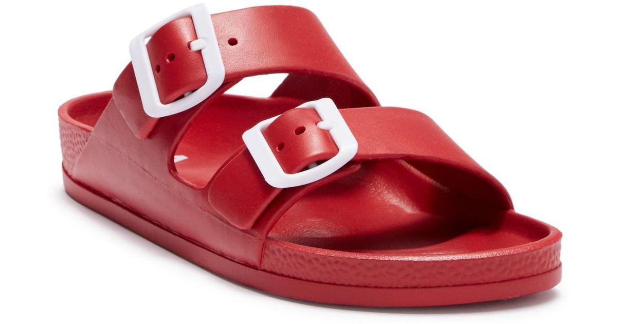 e02f81b7e53e Lyst - MIA Jasmin Dual Buckle Sandal in Red