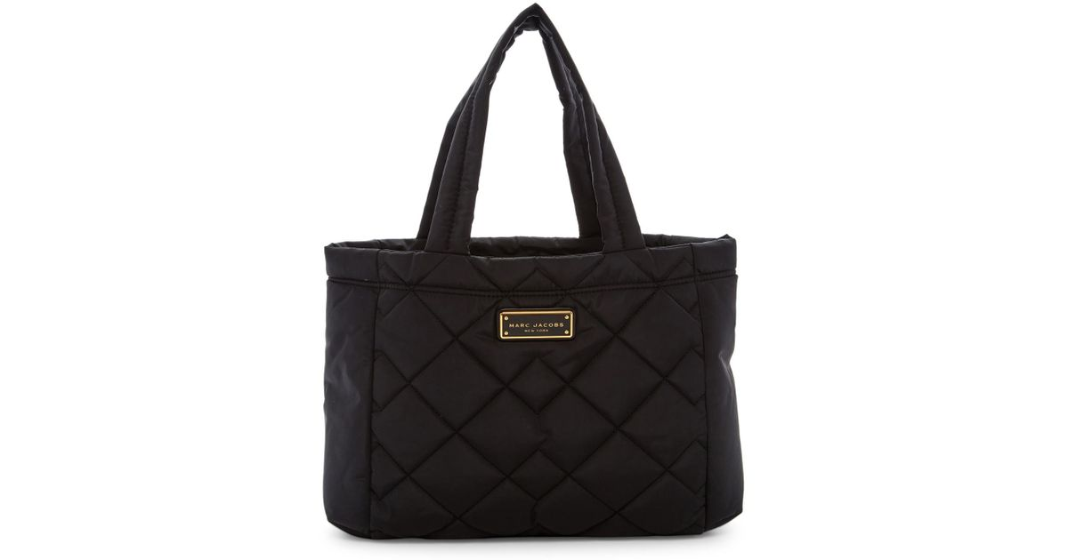Lyst - Marc jacobs Quilted Nylon Small Tote in Black : marc jacobs quilted tote bag - Adamdwight.com