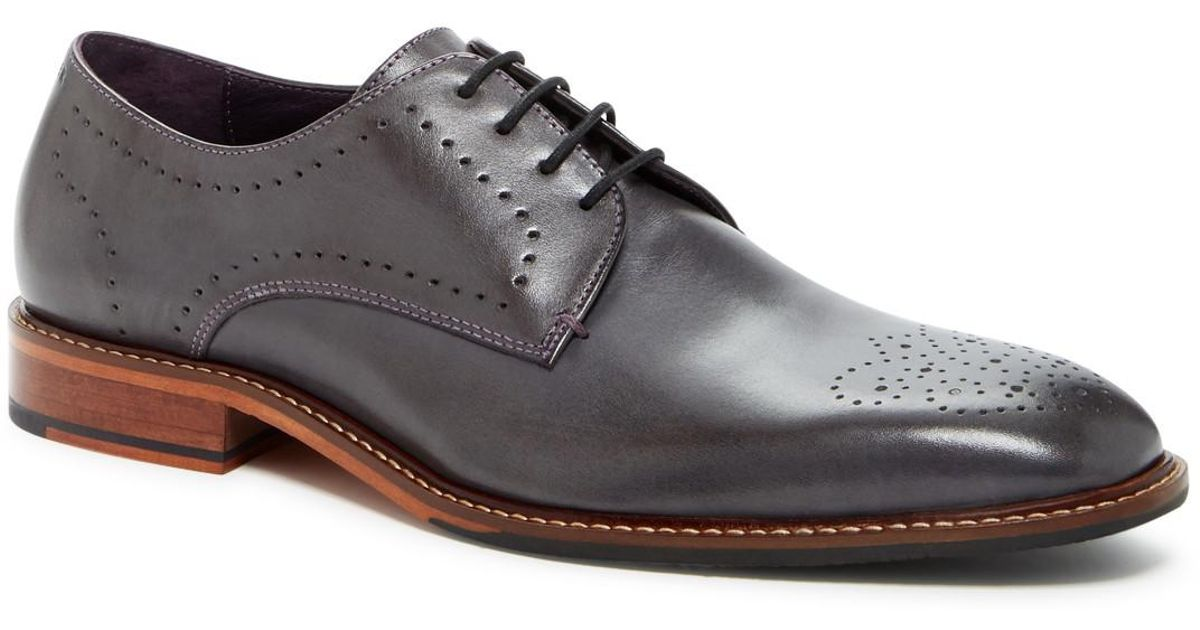 3c46f32a565c44 Lyst - Ted Baker Marar Brogue Toe Derby in Gray for Men
