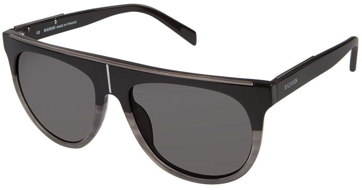 281ddaca80 Lyst - Balmain Women s Shield 57mm Acetate Frame Sunglasses in Gray