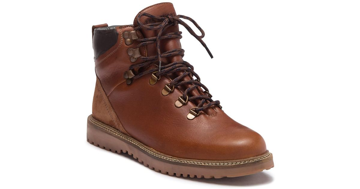 22d901c9729 Frank Wright Brown Butler Leather Lace-up Boot for men