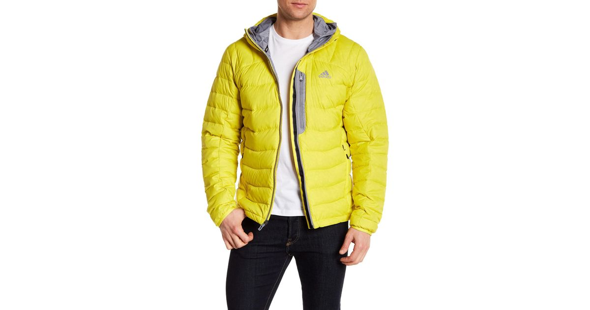 1ff5417107716 Lyst Lyst Terrex Yellow Yellow In Jacket Hooded Men For Quilted Adidas  Rpq1BRP