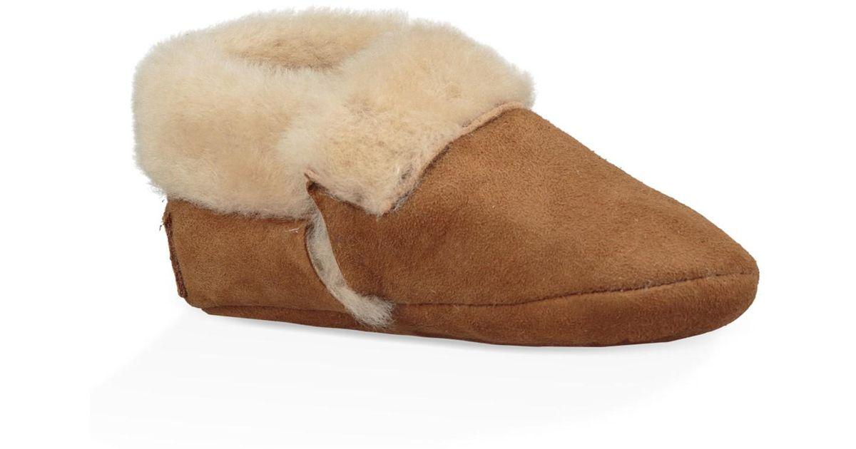 UGG Leather Solvi Genuine Shearling Low
