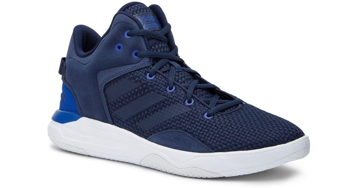Adidas cloudfoam revival a metà scarpa blu per gli uomini lyst