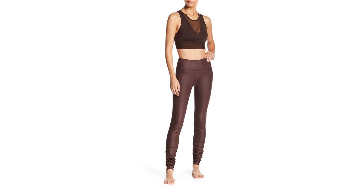 bcce5a3ead Alo Yoga Idol Ruched Leggings - Lyst