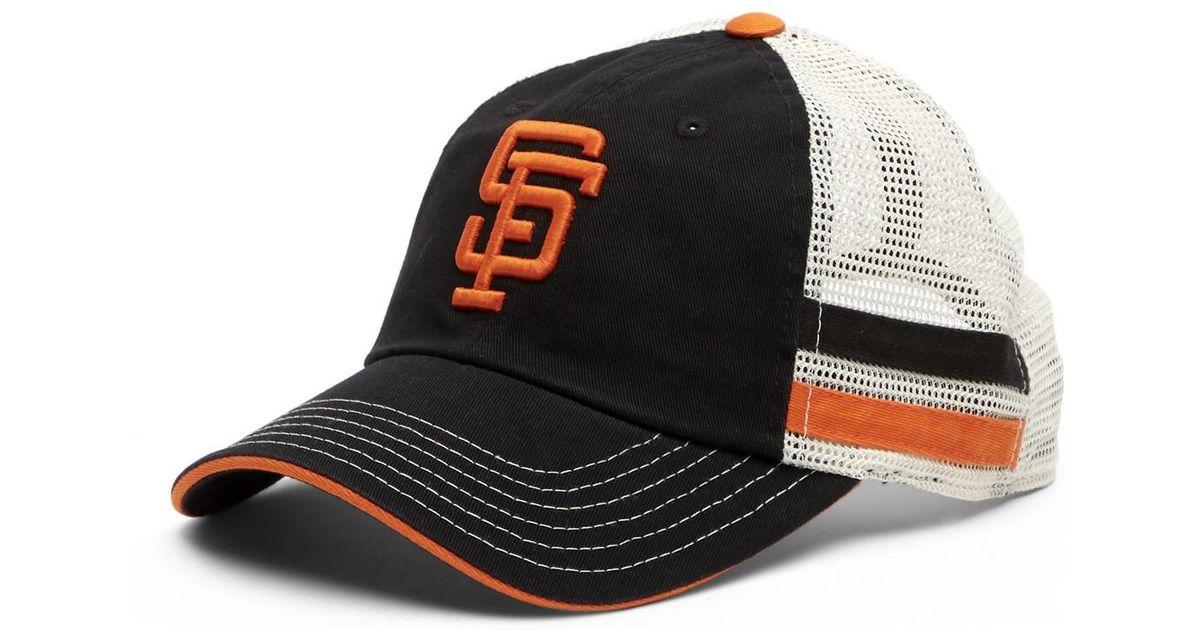 6b364f1239a Lyst - American Needle Foundry San Francisco Giants Mesh Back Baseball Cap  in Black for Men