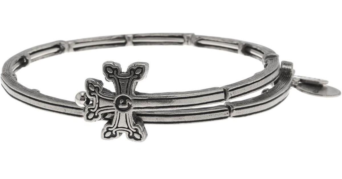 bbeb29c20c6c2 ALEX AND ANI Metallic Cross Detail Wrap Bracelet