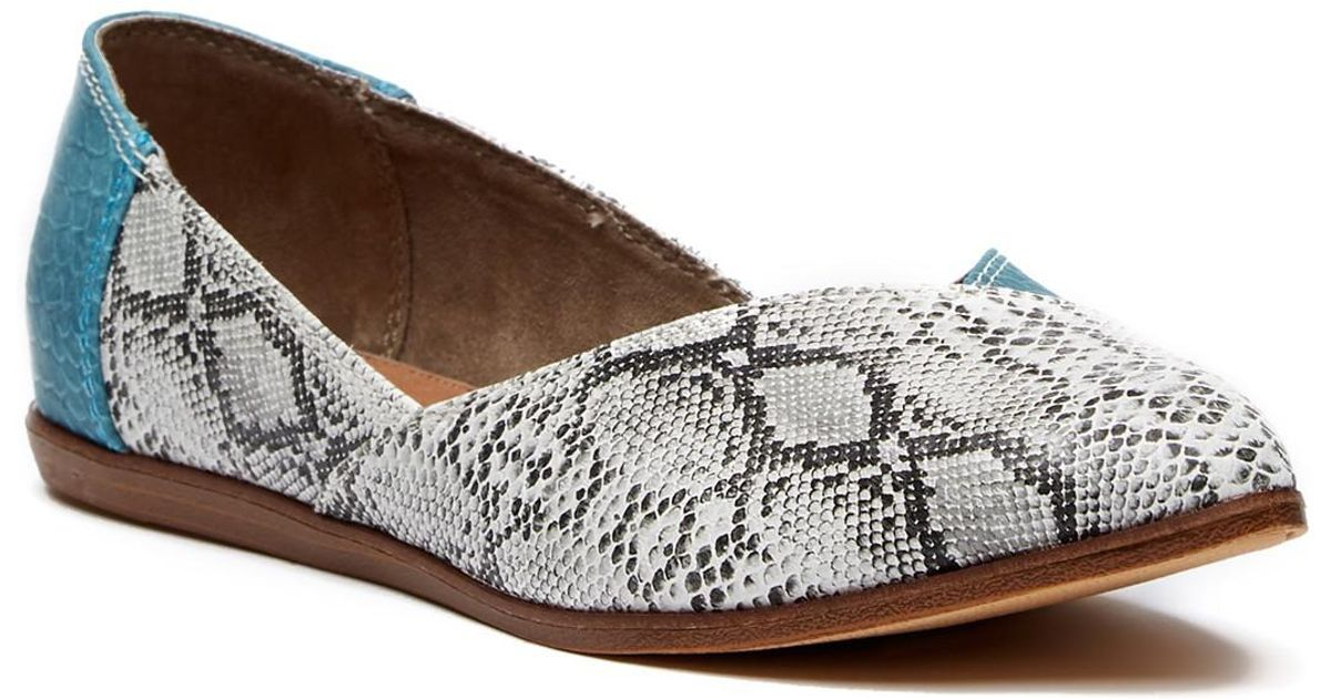 TOMS Jutti Turquoise Snake Print Leather Snake CdFQrS