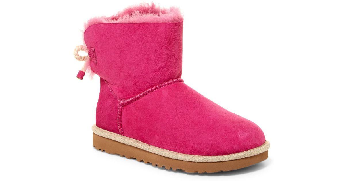 14c0c7eea5e Ugg Pink Selene Genuine Shearling Fur Boot