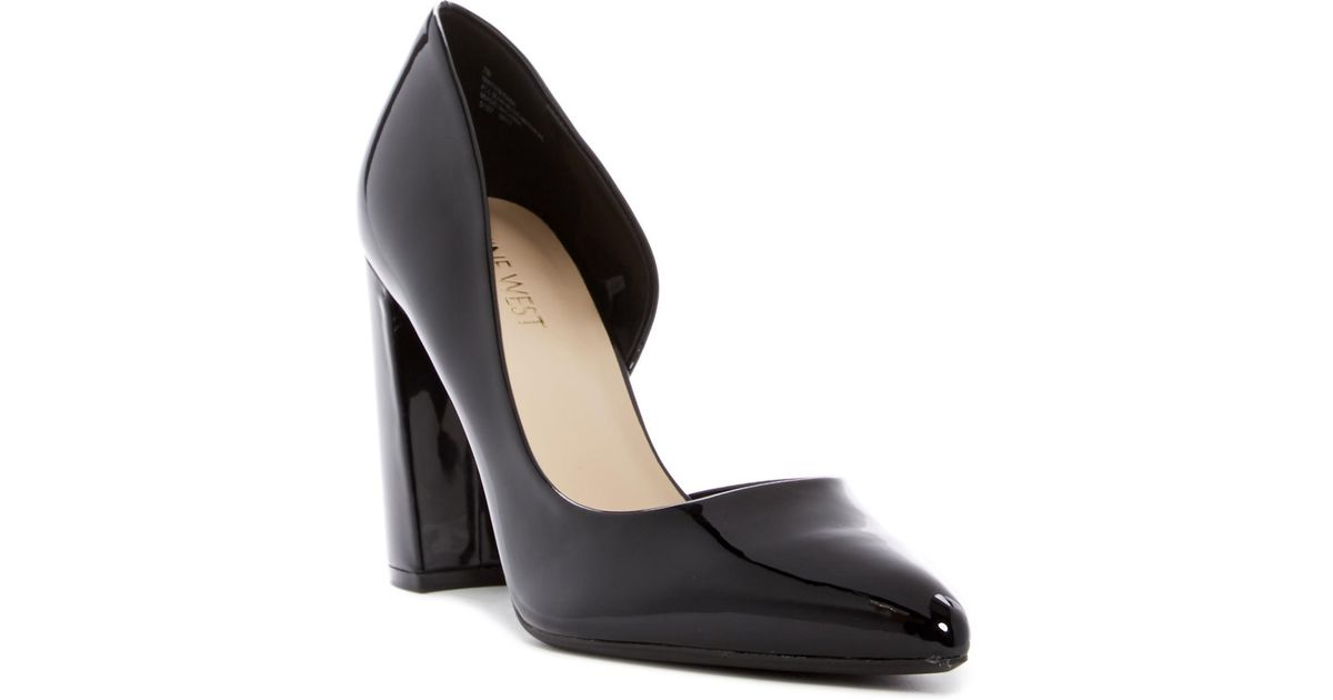 d0cfeae0996 Lyst - Nine West Anisa D orsay Block Heel Pump - Wide Width Available in  Black
